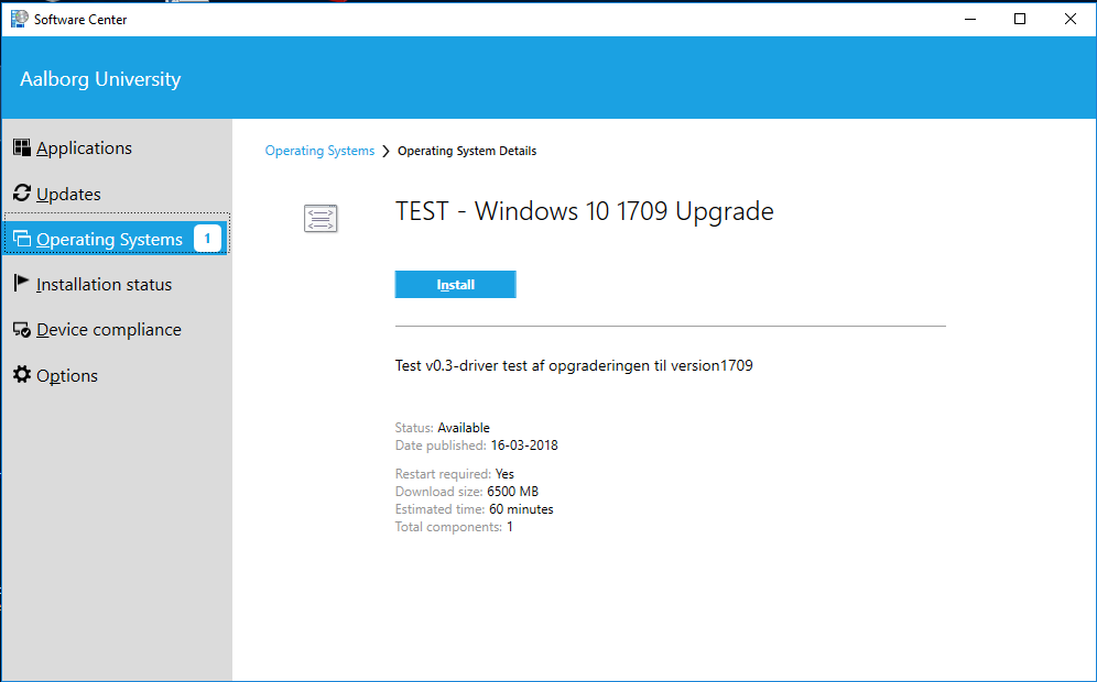 upgrade windows 10 version 1709