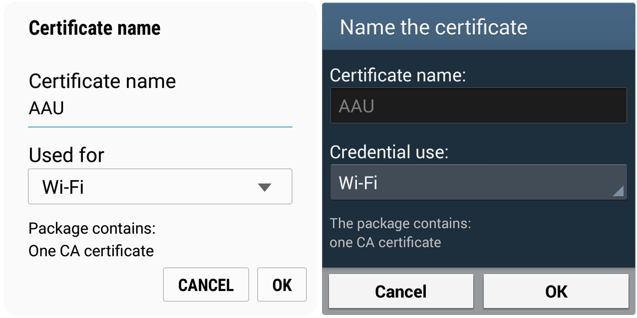 Aau 1x And Eduroam For Android